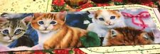 PRETTY KITTY CAT B  POLAR FLEECE SCARF 5 FT LONG  NEW  HOMEMADE