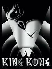 KING KONG ART DECO MOVIE POSTER STYLE A SMALL SILVER LTD EDITION SCREEN PRINT