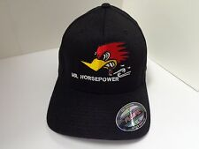 CLAY SMITH CAMS BLACK HAT L/XL CLASSIC WOODPECKER EMBROIDERED RAT ROD VINTAGE
