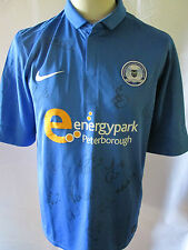 Peterborough United 2012-2013 Squad Signed Football Shirt with our COA /31977