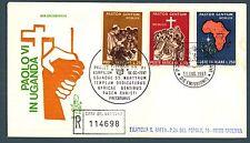 VATICANO - 1969 - Viaggio di Paolo VI° in Uganda su FDC Venetia raccomandata
