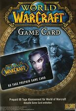 60 Tage Gametimecode World of Warcraft WoW PC  GTC gamecode