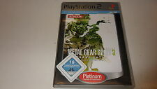 PLAYSTATION 2 PS 2 Metal Gear Solid 3: Snake Eater [Platinum]