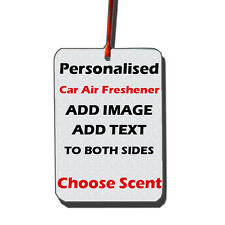 Personalised Car Air Freshener | Add Image/Text | Choose Own Scent | Gift Cars