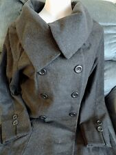 BRAND NEW FOREVER 21 DRESS COAT Gray Wide Collar A line Jacket Top ML Sexy