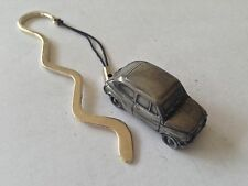 Fiat 600 ref65  FULL CAR on a CURVED bookmark with cord