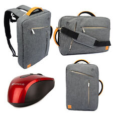 Gray Backpack Messenger Bag Briefcase for ASUS ROG G750JS 17-Inch Laptop +Mouse