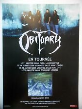 PUBLICITE-ADVERTISING :  OBITUARY  2005 pour la tournée 2006