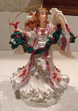 Rejoice Angel Ornament San Francisco Music Box Company Plays Silent Night