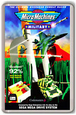MICRO MACHINES MILITARY SEGA MEGA DRIVE FRIDGE MAGNET IMAN NEVERA