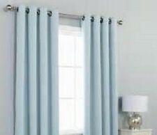 2 PANEL LIGHT BLUE UNLINED 90% THERMAL BLACKOUT GROMMET WINDOW CURTAIN 55X84 #65