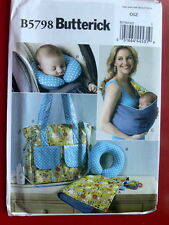 Butterick Pattern 5798 BABY'S CHANGING PAD, NECK SUPPORT, CARRIER AND DIAPER BAG