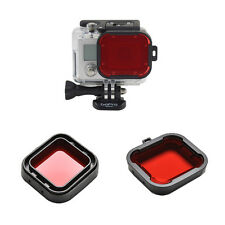 Underwater Sea Diving Snap on Red Lens Filter for GoPro Hero 3+4 Housing Case FO