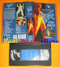 VHS DAVID BOWIE Serious moonlight 1983 WARNER 90 MINUTES 4509968393 cd mc (VM1*)