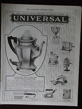 1924 Universal Household Items 9 Shown Named & Priced Advertisement
