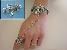 Fairy Slave Bracelet & Ring - Lead Free Pewter - Adjustable SCA Garb fnt