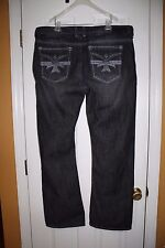 Xtreme Couture AFFLICTION Bootcut Pedro Black Jeans Size 40 x 34 New w tags! $79