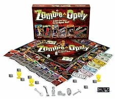 Zombie-Opoly Family Board Game Scary Fun Buy Rent Trade Property NEW/SEALED