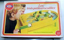 Jeu les trois petits crocodiles 1976 Ideal Toys crazy gator game vintage