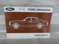 Handleiding Ford Granada van 1975 - nederlandstalig