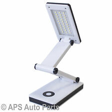 SMD 30 Bright LED Folding Table Light Reading Desk Lamp Touch Control Foldable