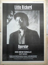 LITTLE RICHARD - OPERATOR 1986 UK Poster size Press ADVERT 16x12""
