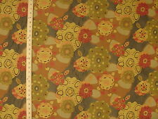 Large Modern Contemporary Abstract Funky Floral Artsy Upholstery Fabric