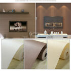 10m Simple Style Textured Non-woven Flocking Wallpaper Wall Paper Rolls 3 Colors