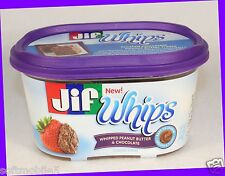 1 Can - NEW! Jif Whips WHIPPED PEANUT BUTTER & CHOCOLATE Smooth & Fluffy Spread