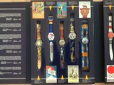 Swatch Watch set, 1st edition Historical Olympic Games Collection, 9 Watches,NEW