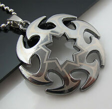 Free Bead chain Black Titanium Steel Roundabout knife Pendant Necklace HOT Gift
