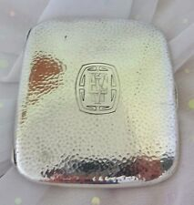 Sterling Silver Cigarette Case Vintage Hammered Arts Crafts Blackinton