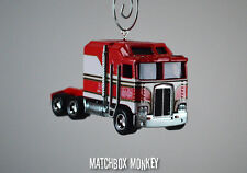 BJ and the Bear Custom Classic 80 Kenworth K100 Cabover Semi Truck Ornament 1/64