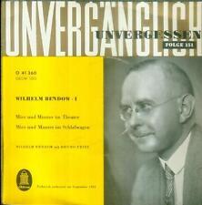 """7"""" Wilhelm Bendow/Mies Und Munter Im Theater (I)"""