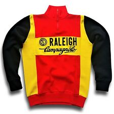 """VINTAGE TI-RALEIGH CAMPAGNOLO RETRO TEAM CYCLING JERSEY (LABEL: XL) 42"""" CHEST"""
