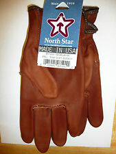 #750 Medium Brown Goatskin Leather MOTORCYCLE Gloves Union Made in the USA