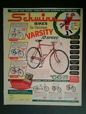 1964 Schwinn Sting~Ray~Racer~Continental Boys Bicycle~Kids Bikes Christmas AD