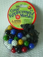 "60 Mega Net Game Replacement Marbles-Chinese Checkers-14mm(1/2"")All Colors"