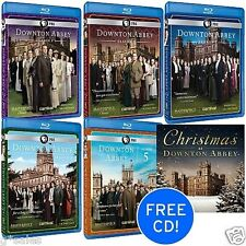 Downton Abbey TV Series Complete Season 1-5 (1 2 3 4 5) NEW BLU-RAY SET CD BONUS