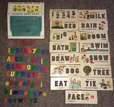 VINTAGE 1972 Fisher Price Toys SCHOOL DAYS DESK NUMBERS LETTERS WORD  CARDS SET