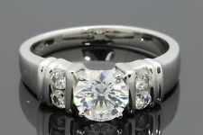 14K WHITE GOLD .15 CARAT WOMEN SEMI MOUNT DIAMOND ENGAGEMENT RING WEDDING BRIDAL