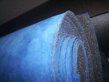 AUTO SUEDE Headliner Upholstery Fabric with foam backing Brite Blue Suede 61""