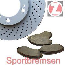 Zimmermann Sport-Bremsscheiben + Bremsbeläge vorne + hinten Audi A6 4F + Avant