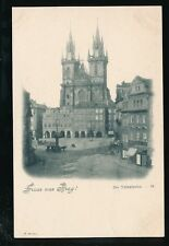 Czechoslovakia Gruss aus PRAG Prague Tyn Church & square c1902 u/b PPC