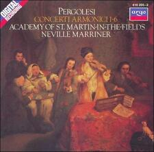 Pergolesi: Concerti Armonici, 1-6 (CD, Argo, W Germany Import) Marriner