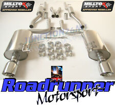 Milltek SSXAU296 Audi A4 B6 3.0 V6 Quattro Exhaust Cat Back Resonated GT100 Tips