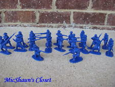 CIVIL WAR UNION IRON BRIGADE INFANTRY ARMIES IN PLASTIC 54 MM 1/32 TOY SOLDIER