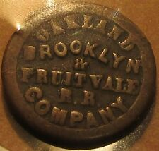 1871 Oakland. CA Brooklyn Fruitvale RR Transit Horse Drawn Trolley Token