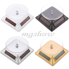 360 Rotating Display Stand Ring Turn Table Plate Solar Power Jewelry Watch Phone