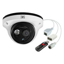 MX CCTV IP Camera Outdoor Dome 1MP 3.6mm Lens Array LED W/ USB - MX ULIPU1 VD7AR